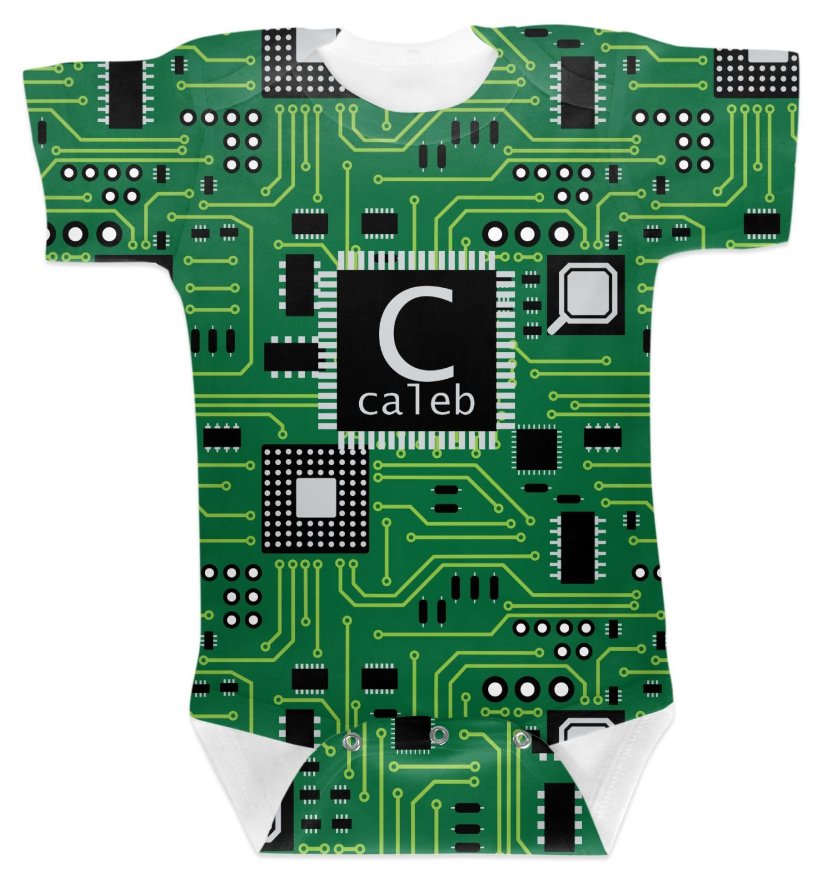 Circuit Board Baby Bodysuit Personalized Youcustomizeit Tshirts Men39s Tshirt
