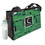 Circuit Board Diaper Bag w/ Name and Initial