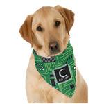 Circuit Board Dog Bandana Scarf w/ Name and Initial