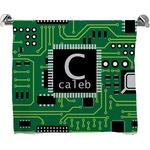 Circuit Board Full Print Bath Towel (Personalized)