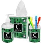 Circuit Board Bathroom Accessories Set (Personalized)