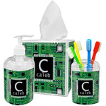 Circuit Board Acrylic Bathroom Accessories Set w/ Name and Initial