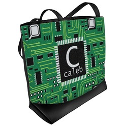 Circuit Board Beach Tote Bag (Personalized)