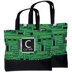 Circuit Board Beach Tote Bag (Personalized)