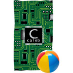 Circuit Board Beach Towel (Personalized)