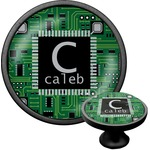 Circuit Board Cabinet Knob (Black) (Personalized)
