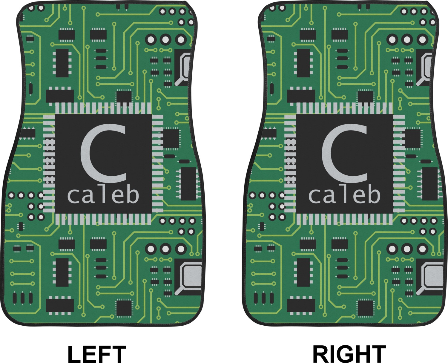 Car Floor Board ~ Circuit board car floor mats front seat personalized