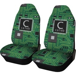 Circuit Board Car Seat Covers (Set of Two) (Personalized)