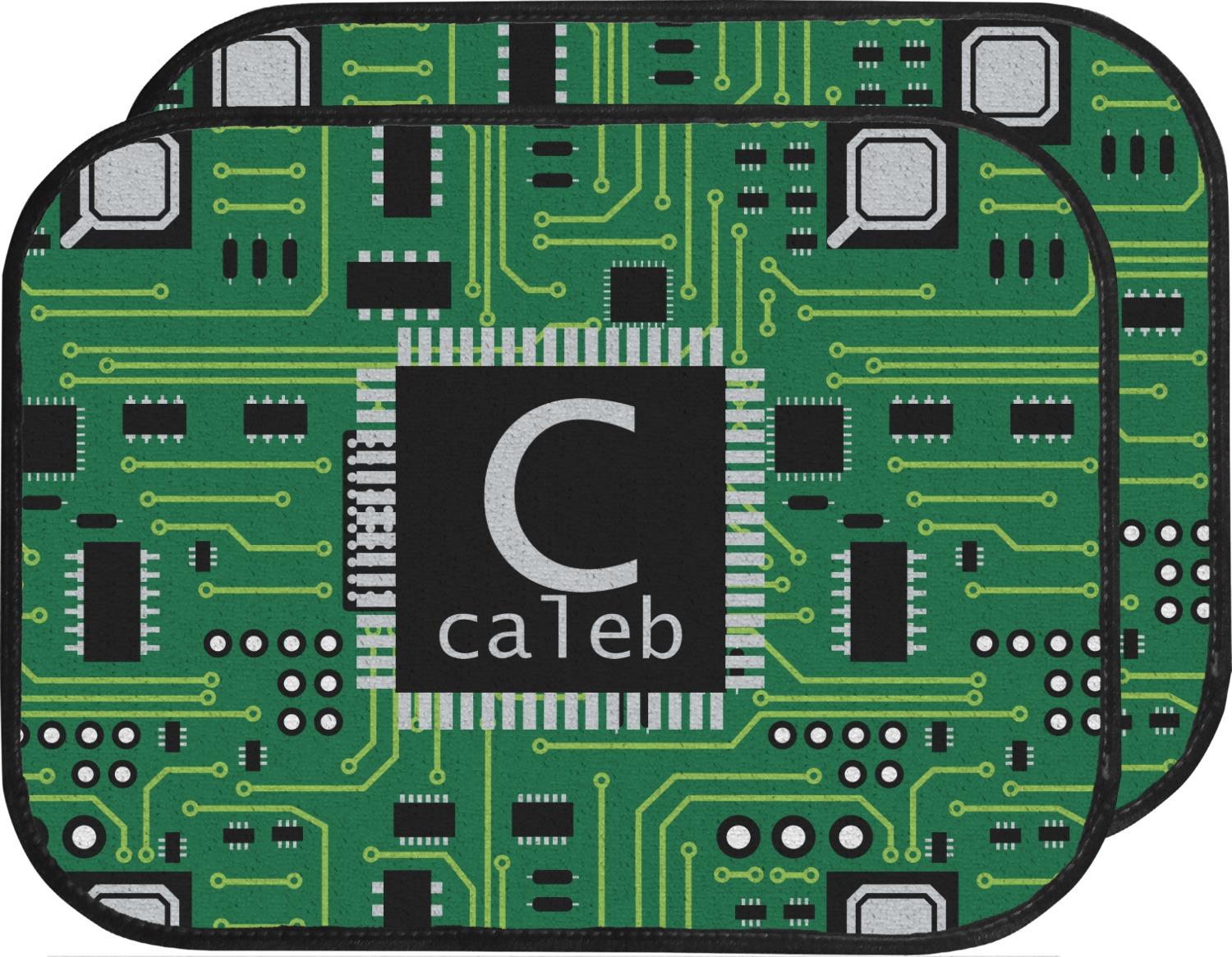 Car Floor Board ~ Circuit board car floor mats back seat personalized