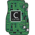 Circuit Board Car Floor Mats (Front Seat) (Personalized)