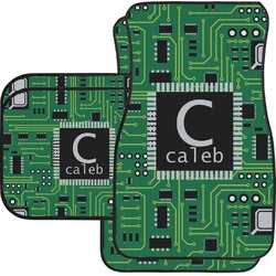 Circuit Board Car Floor Mats Set - 2 Front & 2 Back (Personalized)