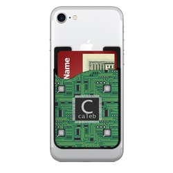 Circuit Board 2-in-1 Cell Phone Credit Card Holder & Screen Cleaner (Personalized)