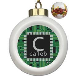 Circuit Board Ceramic Ball Ornament (Personalized)
