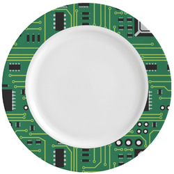 Circuit Board Ceramic Dinner Plates (Set of 4) (Personalized)