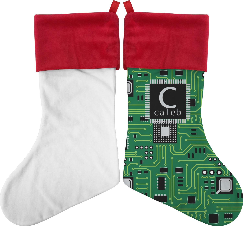 Circuit board christmas stocking single sided