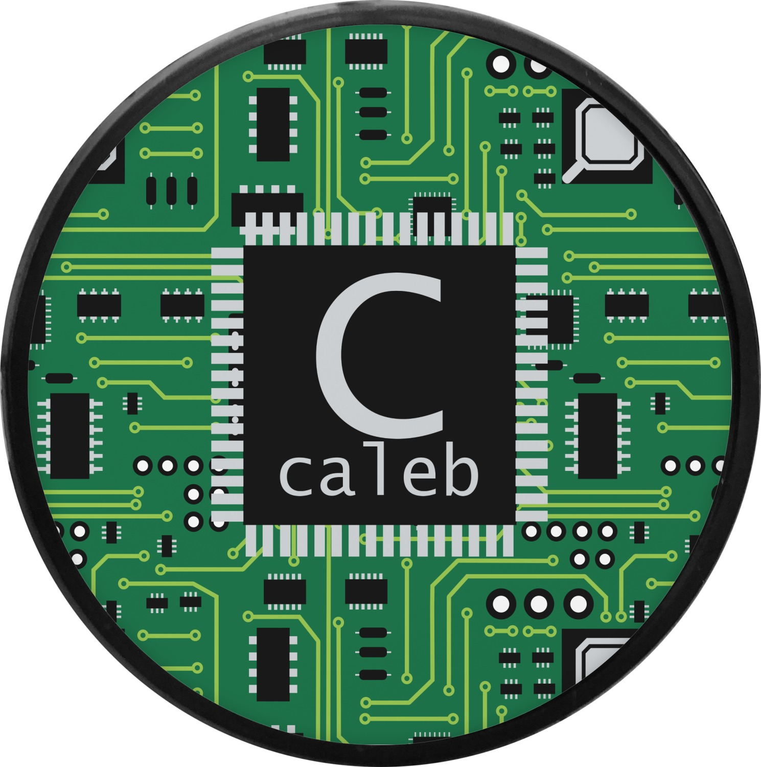 circuit board round trailer hitch cover personalized youcustomizeit