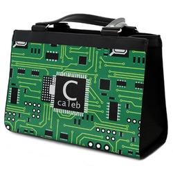 Circuit Board Classic Tote Purse w/ Leather Trim (Personalized)