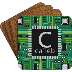 Circuit Board Coaster Set w/ Stand (Personalized)