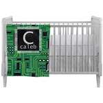 Circuit Board Crib Comforter / Quilt (Personalized)