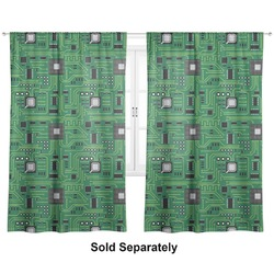 "Circuit Board Curtains - 20""x63"" Panels - Unlined (2 Panels Per Set) (Personalized)"