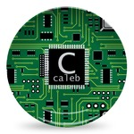 Circuit Board Microwave Safe Plastic Plate - Composite Polymer (Personalized)
