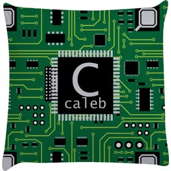 Circuit Board Decorative Pillow Case (Personalized)