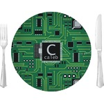 "Circuit Board Glass Lunch / Dinner Plates 10"" - Single or Set (Personalized)"