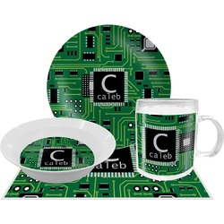 Circuit Board Dinner Set - 4 Pc (Personalized)