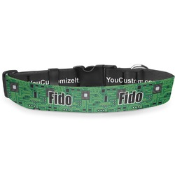 "Circuit Board Deluxe Dog Collar - Large (13"" to 21"") (Personalized)"