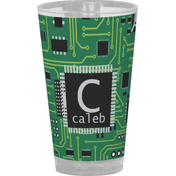 Circuit Board Drinking / Pint Glass (Personalized)