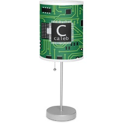 "Circuit Board 7"" Drum Lamp with Shade (Personalized)"