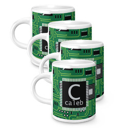 Circuit Board Espresso Mugs - Set of 4 (Personalized)