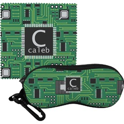 Circuit Board Eyeglass Case & Cloth (Personalized)