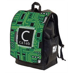 Circuit Board Backpack w/ Front Flap  (Personalized)