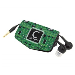 Circuit Board Genuine Leather Cord Wrap (Personalized)