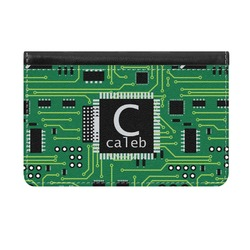 Circuit Board Genuine Leather ID & Card Wallet - Slim Style (Personalized)