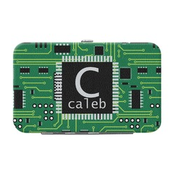 Circuit Board Genuine Leather Small Framed Wallet (Personalized)