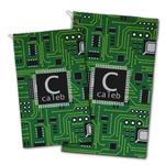 Circuit Board Golf Towel - Full Print w/ Name and Initial