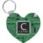 Circuit Board Heart Keychain (Personalized)