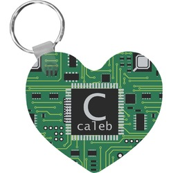 Circuit Board Heart Keychain (Personalized)
