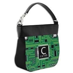 Circuit Board Hobo Purse w/ Genuine Leather Trim (Personalized)