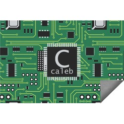 Circuit Board Indoor / Outdoor Rug (Personalized)