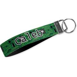 Circuit Board Wristlet Webbing Keychain Fob (Personalized)
