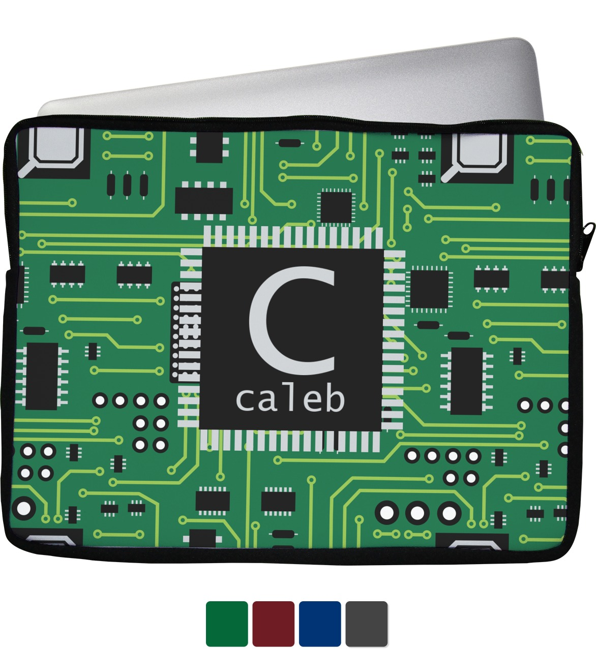 Circuit Board Laptop Sleeve Case 15 Personalized Youcustomizeit Circuitboardnotebook