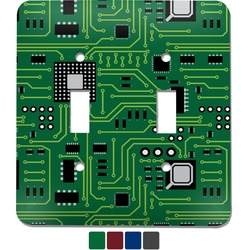 Circuit Board Light Switch Cover (2 Toggle Plate) (Personalized)