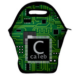 Circuit Board Lunch Bag w/ Name and Initial