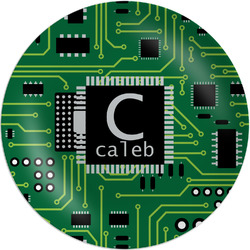 Circuit Board Melamine Plate (Personalized)