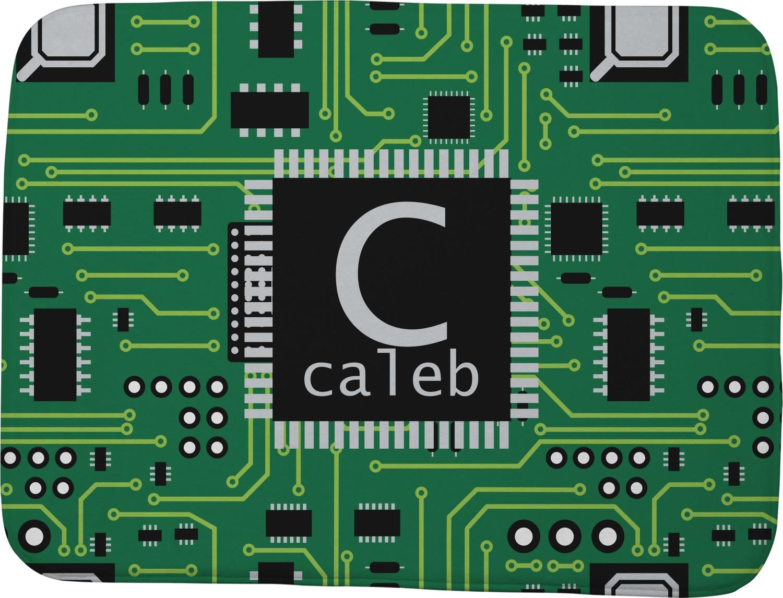 Circuit Board Memory Foam Bath Mat Personalized