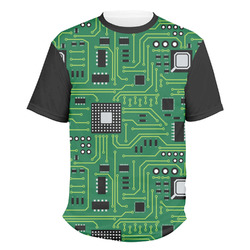 Circuit Board Men's Crew T-Shirt (Personalized)