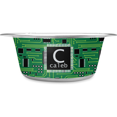 Circuit Board Stainless Steel Dog Bowl (Personalized)